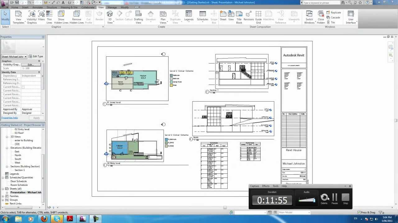 how to create view from different project revit