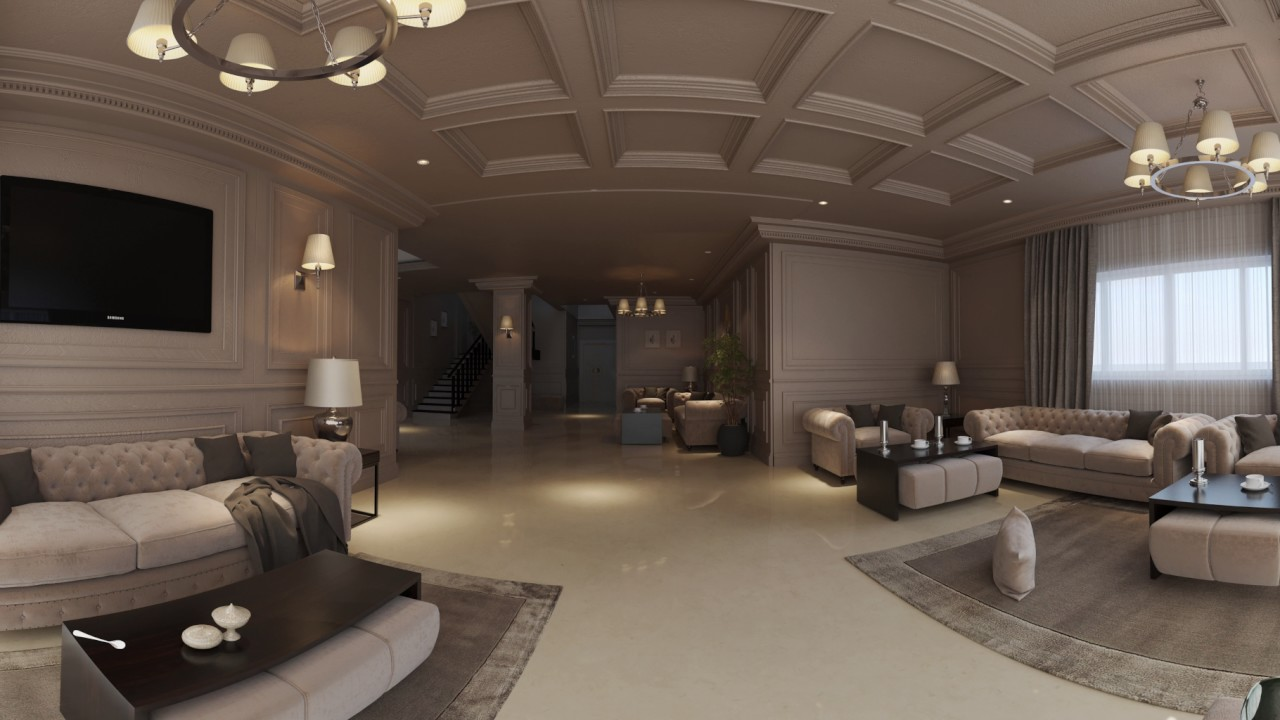 Panorama 360 Vr Video 4k Living Room