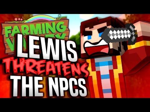 Minecraft Farming Valley #9 - Lewis Threatens The NPCs