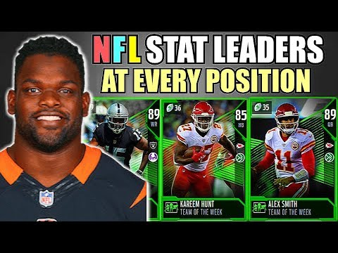 NFL STAT LEADERS AT EVERY POSITION! MADDEN 18 ULTIMATE TEAM SQUAD BUILDER