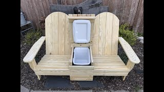 I show how I built this Adirondack style bench with a built in cooler!!