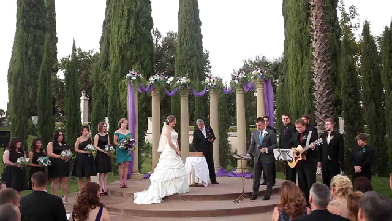 Bride Song To Groom: Groom Sings Original Song To Bride During Wedding Ceremony