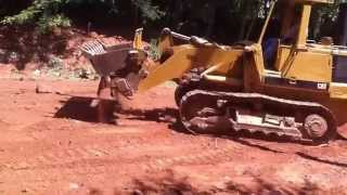 Grading With The Cat 953 Track Loader
