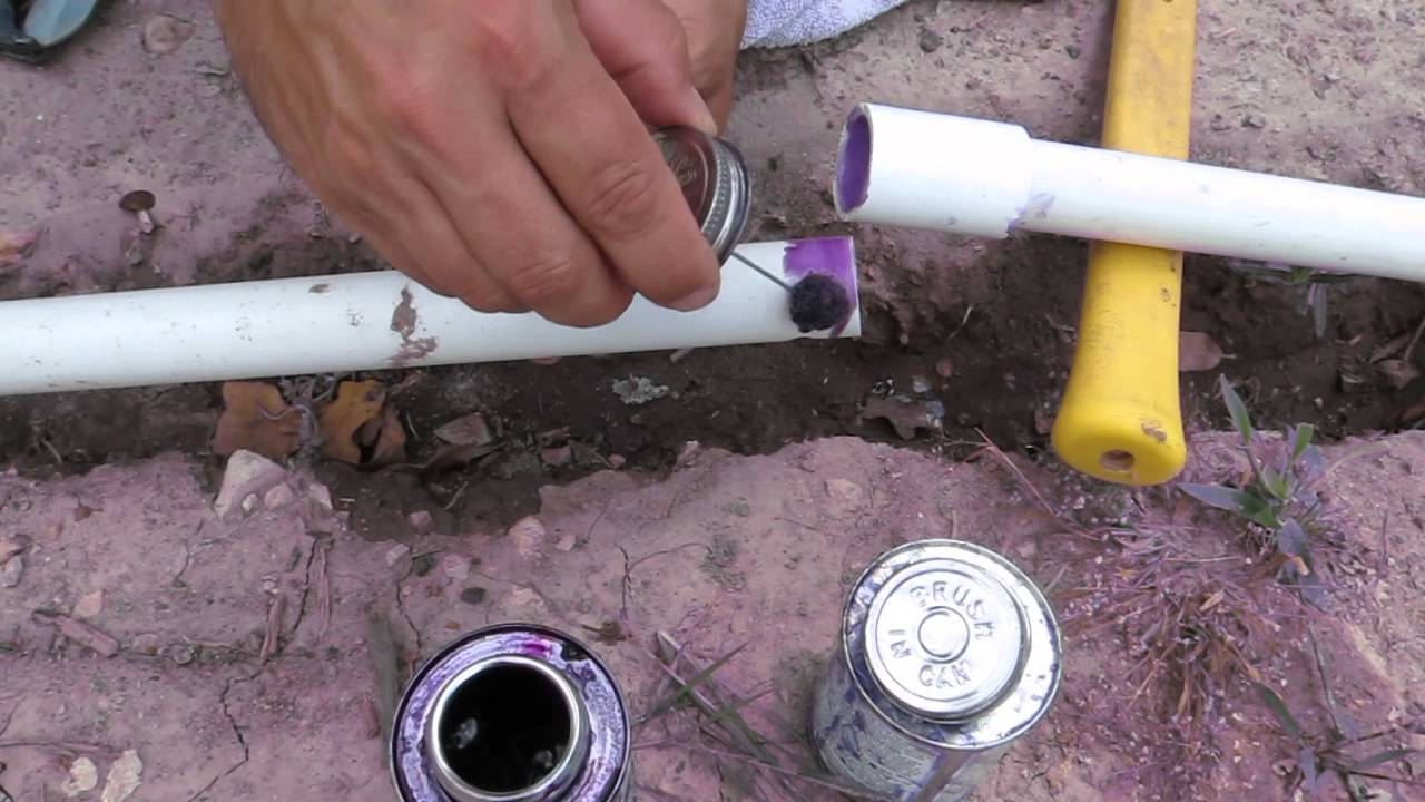 How to replace a broken sprinkler pipe