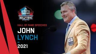 John Lynch Full Hall of Fame Speech 2021 Pro Football Hall of Fame NFL