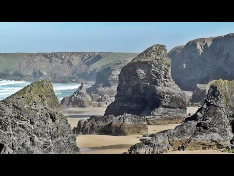 Relaxing Scenes and Sounds of Cornwall - Bedruthan Steps