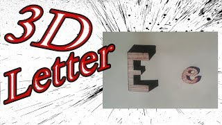 How to Draw 3D Letter E - Uppercase E and Lowercase e -YouTube