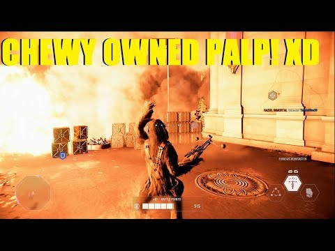 Star Wars Battlefront 2 - CHEWY OWNED EMPEROR PALPATINE XD | Chewbacca killstreak! (Theed)