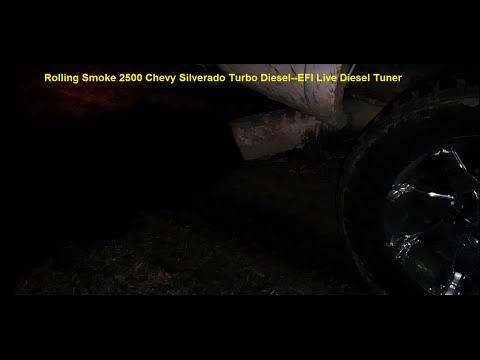 800hp Silverado 2500 Turbo Diesel Rolling Coal Black Smoke - EFI Live Diesel Tuner