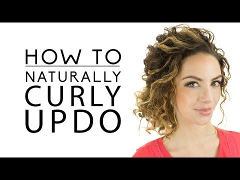 Naturally Curly Updo 2020