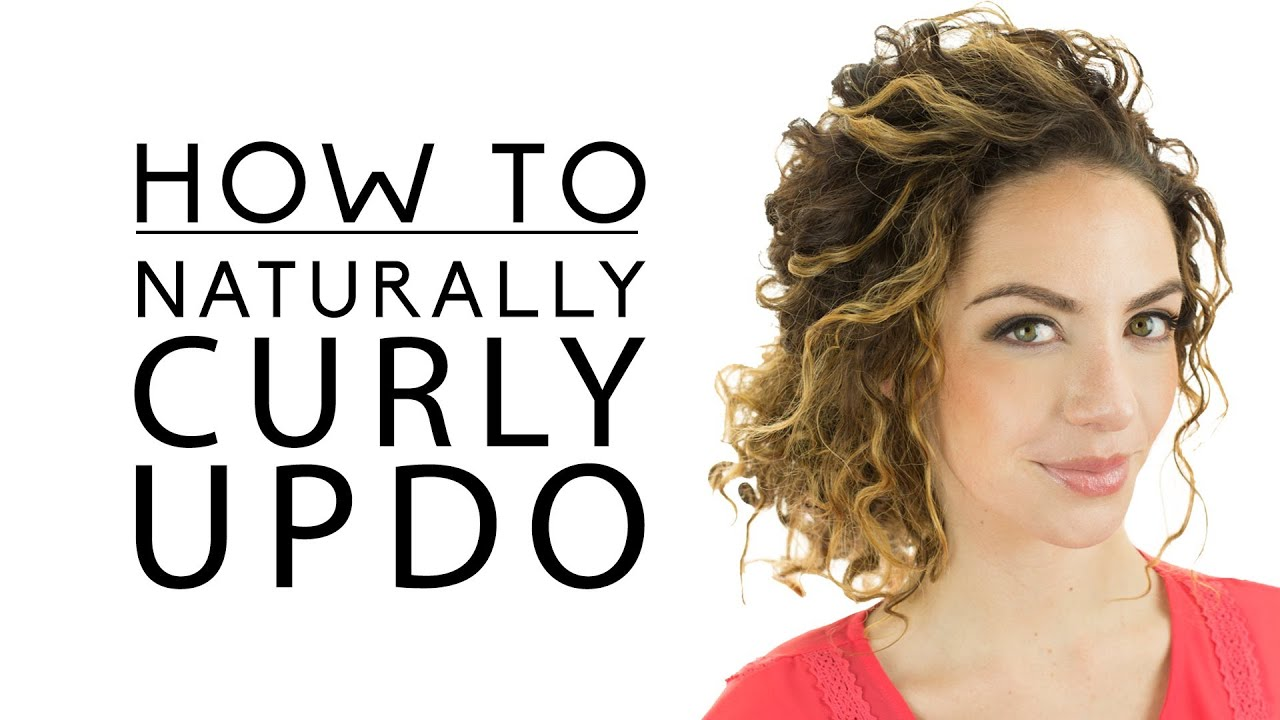 naturally curly updo - youtube