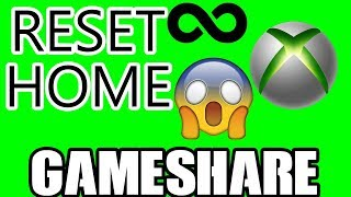 HOW TO MANUALLY RESET HOME XBOX *WARNING WILL RESET YOUR GAMESHARE* UNLIMITED GAMESHARE