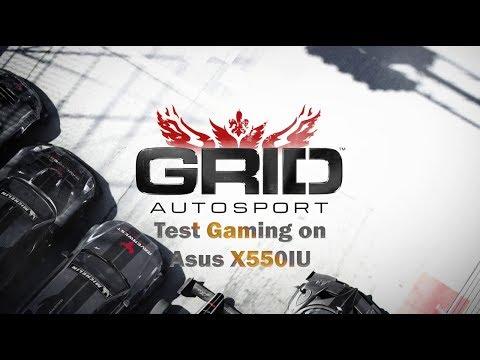 Test Gaming on Asus X550IU : GRID Autosport (Run on 1080p)