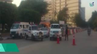 فيديو.. الاشتباه فى جسم غريب أمام استراحة كبار الزوار بمحافظة أسيوط