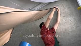 Монтаж комбинированного натяжного потолка