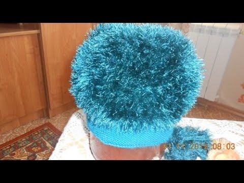 Вязание шапок из травки спицами для женщин с описанием