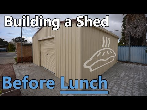 Building a Garage Shed Before Lunch