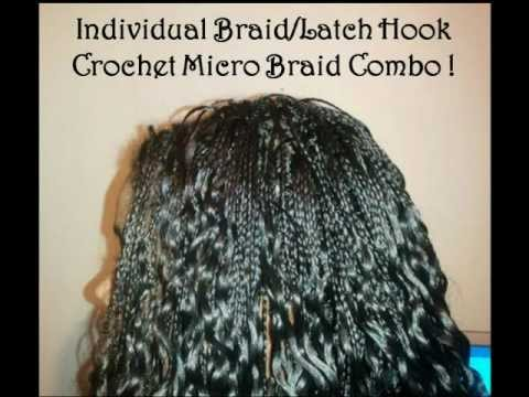 Micro Braids and Crochet Micro Braids Combination - YouTube