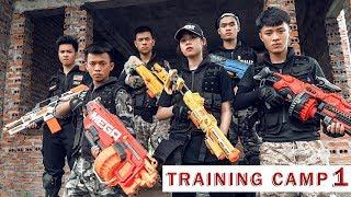 GUGU Nerf War : SQUAD CID Dragon Nerf Guns Fight Criminal Group SKMAN Mask Battle Skill Intrusion