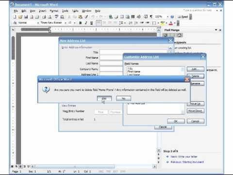 microsoft office mail merge