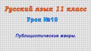 Русский язык 11 класс (Урок№10 - Публицистические жанры.)