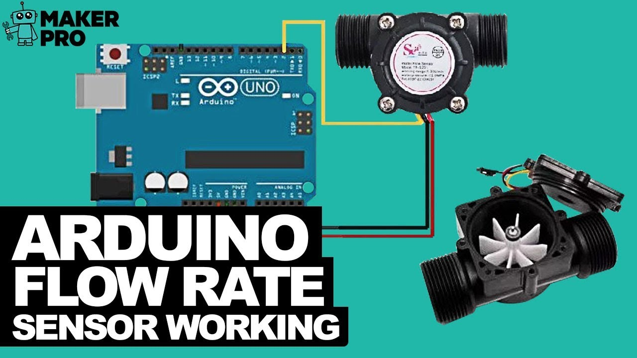 Arduino Flow Rate Sensor Working - YouTube