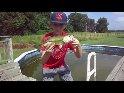 BASS FISHING IN A POOL