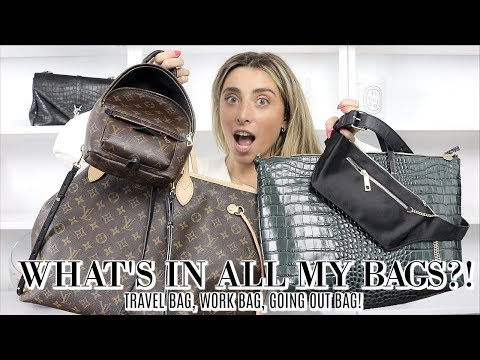 WHAT'S IN MY BAG?! FROM TRAVEL TO NIGHT OUT! FALL BAGS! | Lauren Elizabeth