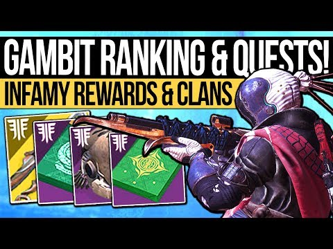 Destiny 2 | GAMBIT RANK SYSTEM & VENDOR QUESTS! Infamy