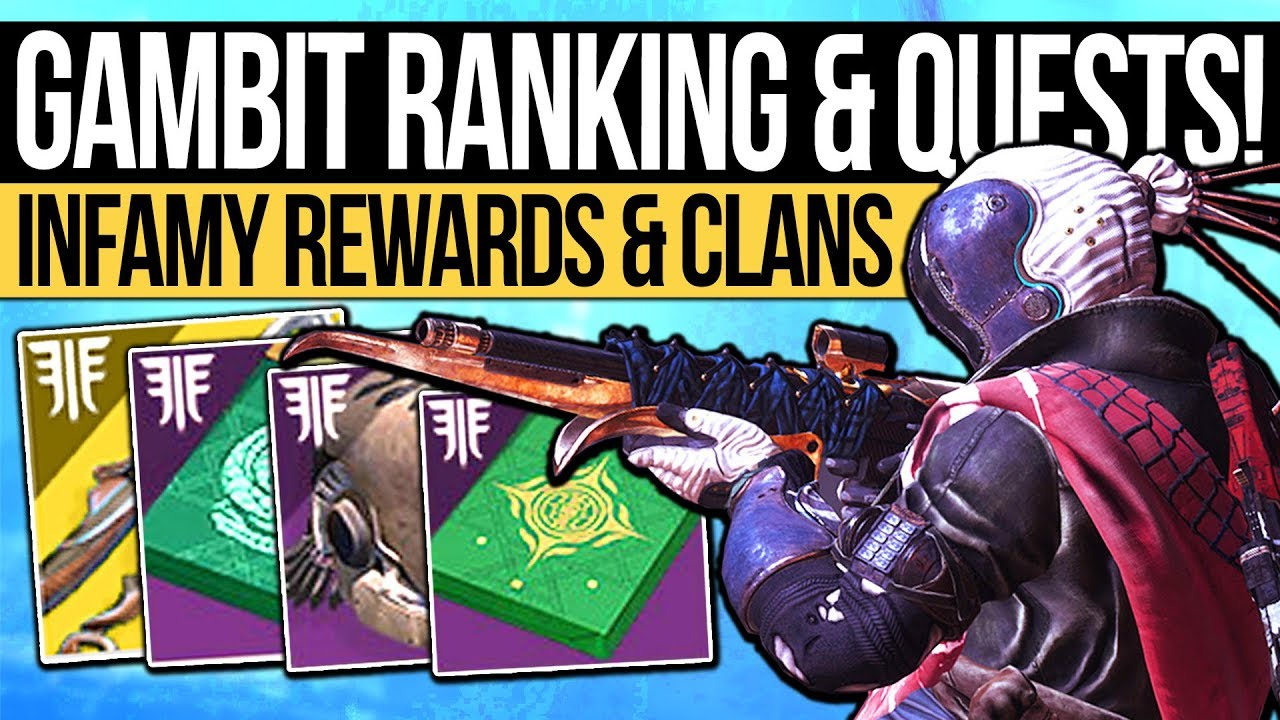 Destiny 2 | GAMBIT RANK SYSTEM & VENDOR QUESTS! Infamy Rewards, Clan  Rework, DLC Unlocks & New PvP!