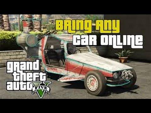 GTA V single player to multiplayer vehicle transfer Glitch