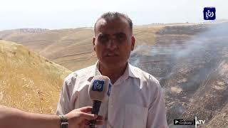حريق يأتي على 200 دونم في منطقة حلاوة ولا إصابات بالأرواح (21-5-2019)