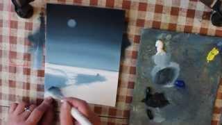 Нарисовать зимний пейзаж как профи смогут все Часть 1