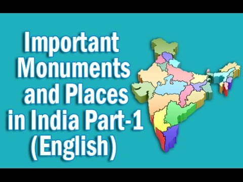 Important Monuments and Places in India Part-1 in English | Static GK