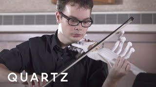 The 3D-printed six-string $10 electric violin