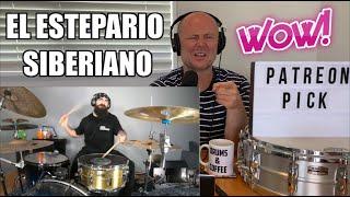 Drum Teacher Reaction: El Estepario Siberiano   Dream theater   THE ENEMY INSIDE   Single Pedal!