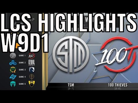 LCS Highlights ALL GAMES Week 9 Day 1 Spring 2020 League of Legends Championship Series
