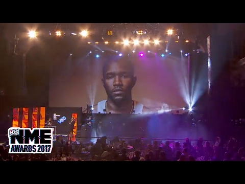 Frank Ocean wins Best International Male supported by VO5 @ VO5 NME Awards 2017