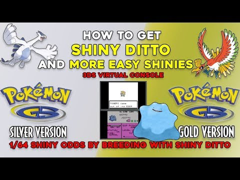 Pokemon Gold and Silver 3DS (VC): How to get SHINY DITTO and 1/64 SHINY ODDS