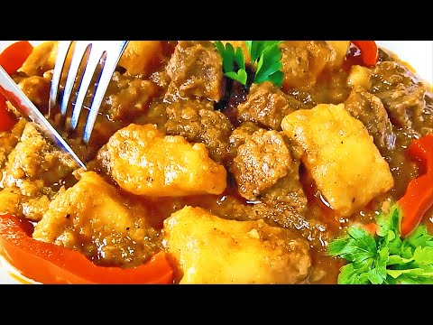 Hungarian Beef Goulash With Potatoes, The Authentic Beef Goulash Recipe!