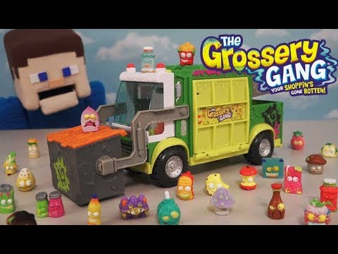 The Grossery Gang Muck Chuck Garbage Truck Putrid Power Playset Series 3 Toy Unboxing episodes