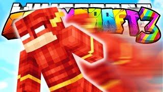 Minecraft Crazy Craft 3.0: FLASH Suit Wall HACKS? (SuperHeros Mod)! #84