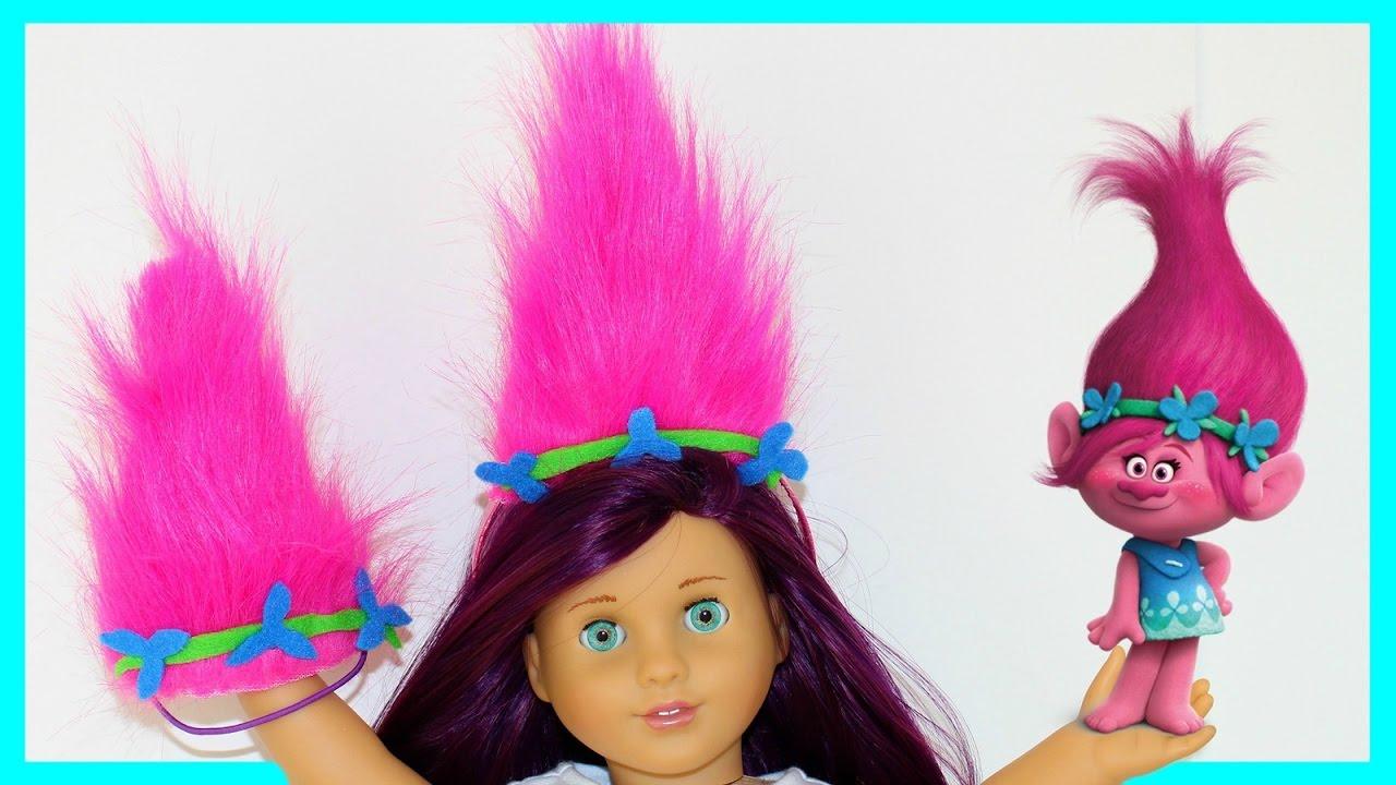 Diy american girl doll trolls headband youtube solutioingenieria Image collections
