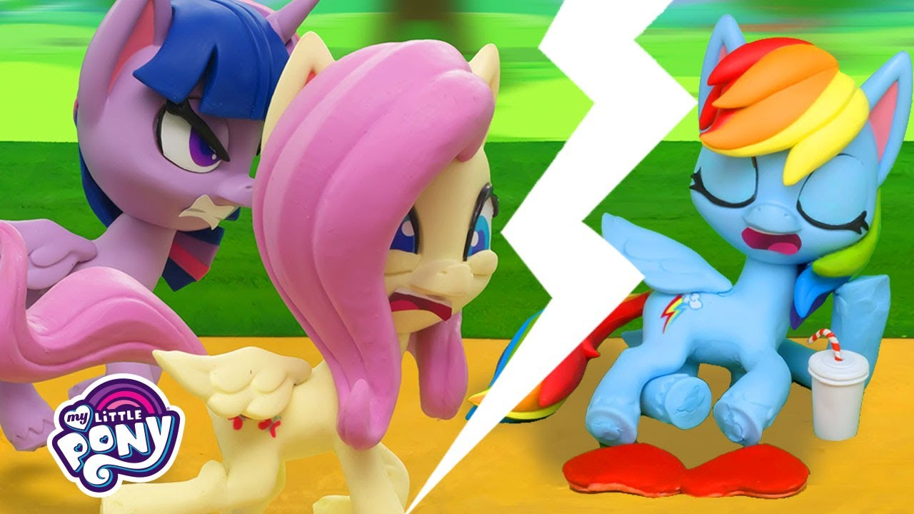 My Little Pony Stop Motion 🍿The Great Race Between Ponies | MLP Stop Motion