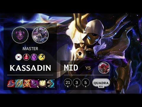 Kassadin Mid vs Katarina - KR Master Patch 10.10