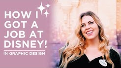 HOW I GOT MY JOB AT DISNEY!! | From intern to full-time in Graphic Design