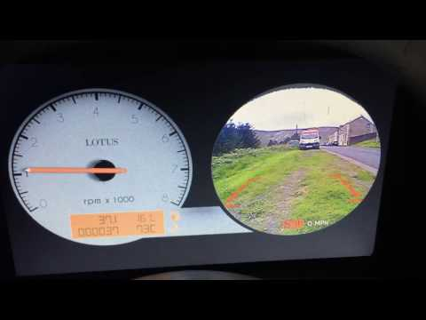LCD Cluster video input rear view camera