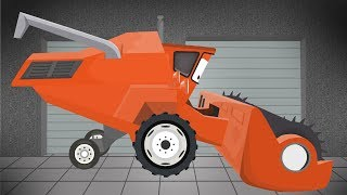 Bulldozer, Tractor, Combine Harvester | Garage for Kids | Buldożer Ciągnik, Kombajn dla dzieci Bajka