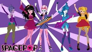 SpacePOP Start Something Big Music Video with Lyrics #readalong | SpacePOPgirls Cartoon