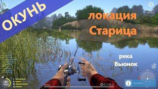 Русская рыбалка 4 река Вьюнок Окунь за сухостоем